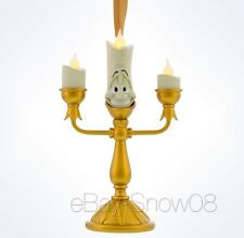 "Light Up Lumiere 5"" LED Flame Light Lamp Ornament Disney Park NWT"