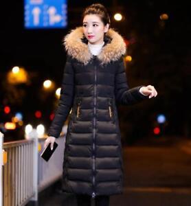 Coat Vinter Sbox1 Kvinder Cotton Polstret Slim Hooded Wadded Warm Down Lang Overcoat pSdwXHqT