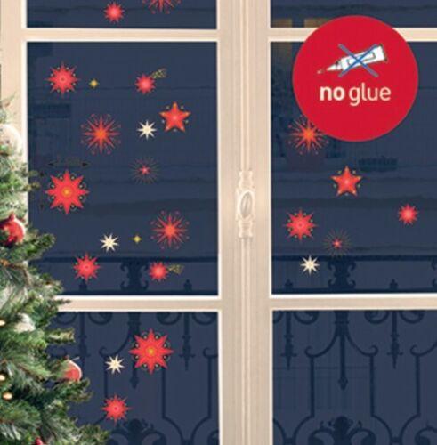 Xmas Fenstersticker Weihnachten Fensterbild Advent Fenster Sticker Fensterfolie