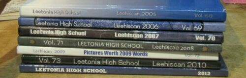 CHOICE Leetonia High School Ohio Yearbook 2005-2012 Non Inclusive See List Bears