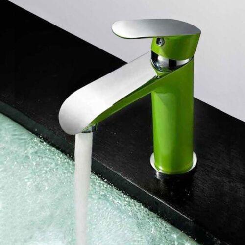 Moderne Design Einhebelmischer  Armatur Bad Waschbecken Grün Chrom Sanlingo