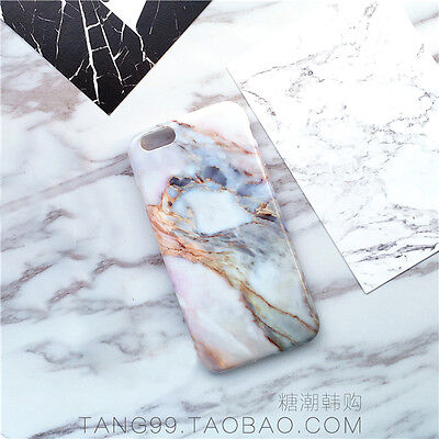 Stylish Cool Granite Marble Stone Effect Soft Case Cover For iPhone 6 6s 6s Plus