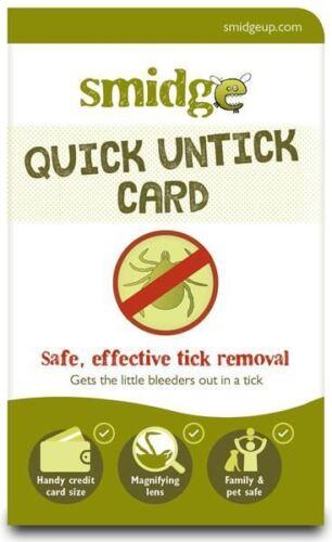SMIDGE QUICK UNTICK CARD EASY TICK REMOVER