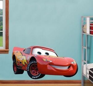 Disney cars mcqueen extra large wall sticker nursery boys for Disney cars large wall mural
