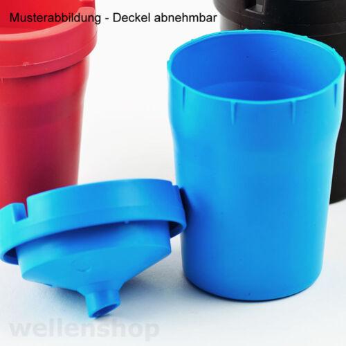 Aschenbecher Kunststoff Sturmaschenbecher Autoascher Ascher Schwarz Blau Rot