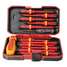 13pcs Electricians Insulated Magnetic Electrical Hand Screwdriver Tool Set New