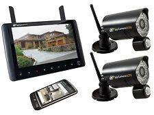 2 telecamera wireless a casa sistema di sicurezza CCTV 720p HD Registratore Portatile Monitor