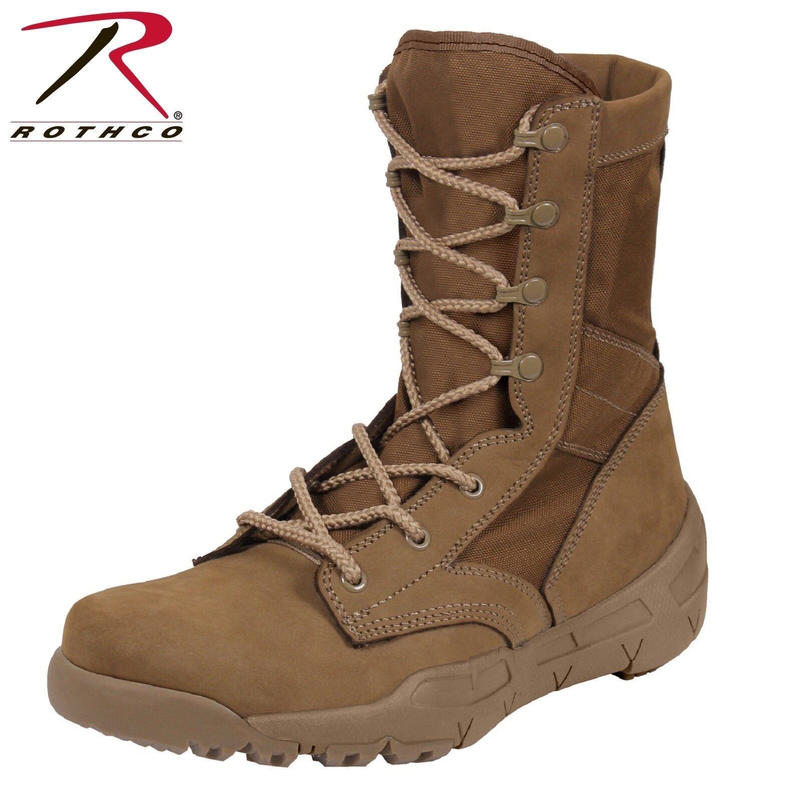 Rothco V-Max Lightweight Tactical Botas-AR670-1 Coyote Marrón hombre botas para hombre Marrón militar 4315e4