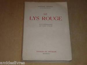 A-FRANCE-LE-LYS-ROUGE-Illustre-par-PAUL-COLIN
