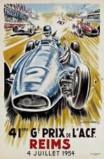 Grand Prix 1938 Reims France Classic A.C.F Racing Poster 24x32