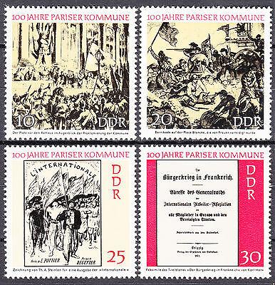 1655-1658 Postfrisch ** Mnh Dynamisch Ddr 1971 Mi Nr