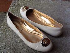 Coach Judyann Cream Beige Patent Leather Slip On Flat ~Size 9