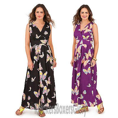 Ladies Blue Printed Maxi Skirt Sizes 8-10-12-14-16-18 Brand New