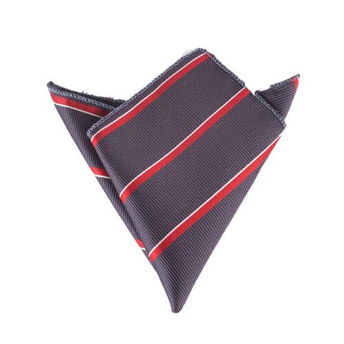 Fashion Men Striped Business Suit Pocket Square Handkerchief Wedding Dress Hanky