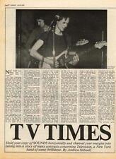 Television Tom Verlaine UK Interview 1976