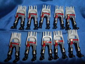 Playmobil Pirat 10 x Beine schwarz Holzbein Stiefel braun Schärpe blau gold top