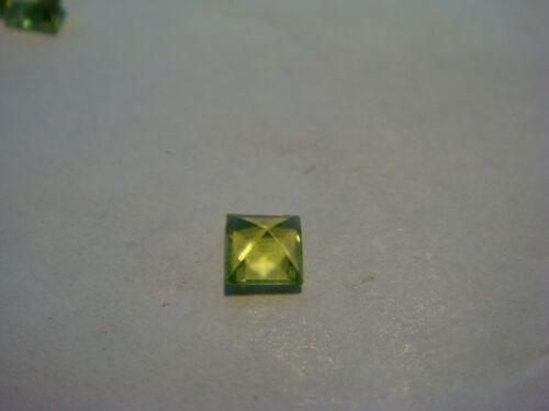 Peridot Princess Cut 3.5 mm x 3.5 mm Gemstone 0.28 Carats Natural Gem