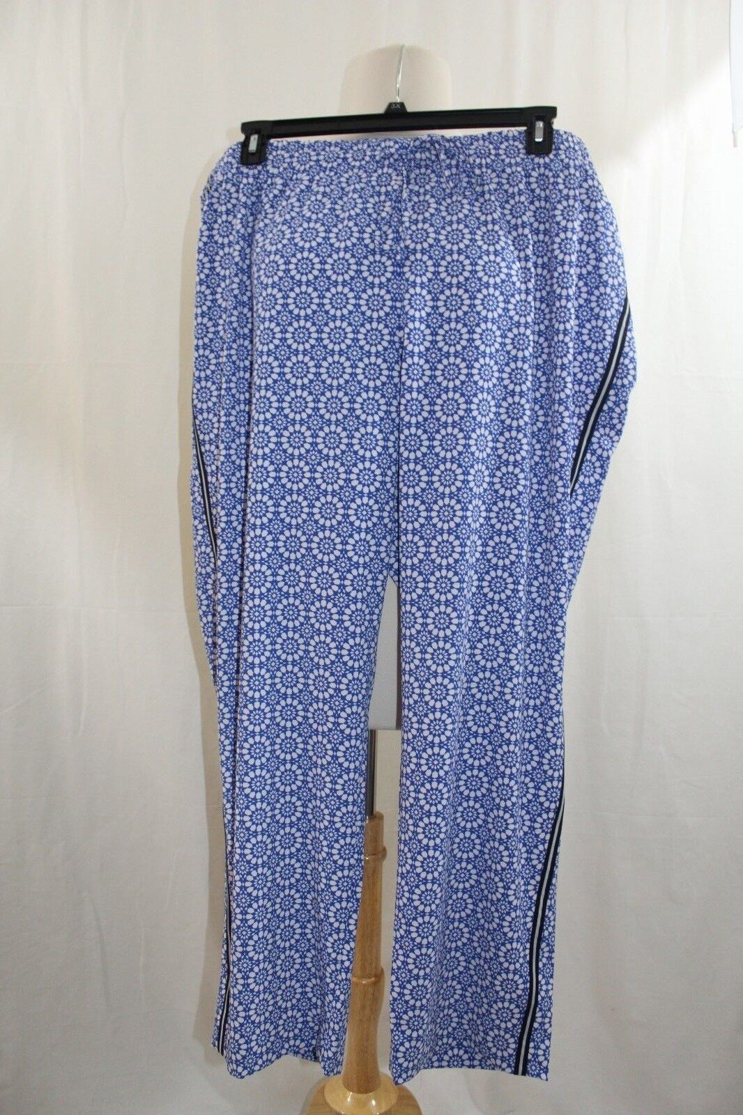 Talbots Women's Lounge Pants  -  NWT - Plus Size 3X - Royal bluee White