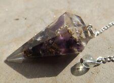 Faceted orgone healing amethyst crystal dowsing pendulum