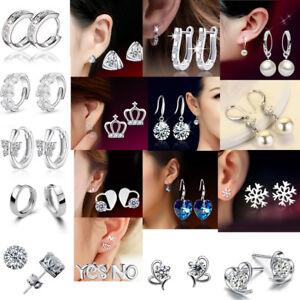 925-Silver-Stud-Earring-Rhinestone-Crystal-Drop-Pearl-Earrings-Fashion-Jewelry