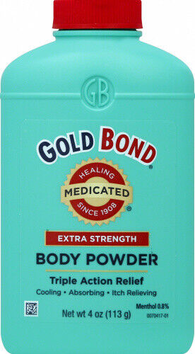 Gold Bond Medicated Body Powder, Extra Strength, 4 oz (113 g). Delivery is Free