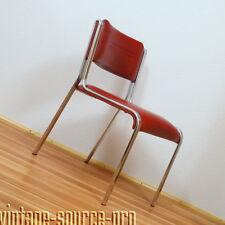 exklusiver 60er J. EKA American Diner Vintage Design Chrom Stuhl Küchenstuhl (4)