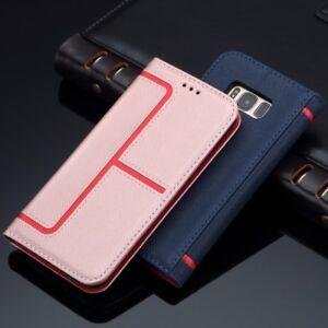 Portefeuille-Coque-pour-Samsung-iPhone-Support-Flip-Housse-Etui-Souple-Antichoc