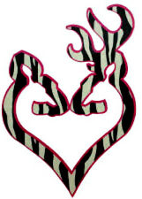 20 water slide nail art transfer browning heart zebra print 5/8 inch Trending