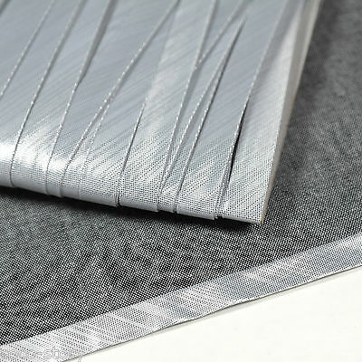 """Shiny Silver Polyester Bias Binding Solid Tape 4yds 3/8"""" Wide Folded S bi-008"""