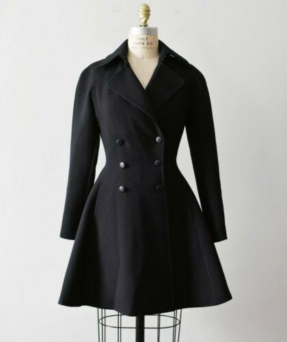 Azzedine ALAIA tailored wool princess coat