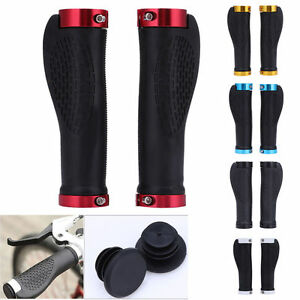 Cycling-Mountain-Bike-Bicycle-Handlebar-Handle-Bar-Grips-End-LOCK-ON-Ergonomic