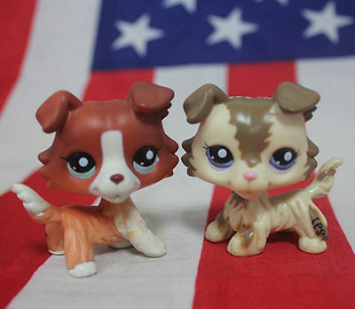 LPS toy Littlest Pet Shop #1542 dog  toys LPS dog for kids collection