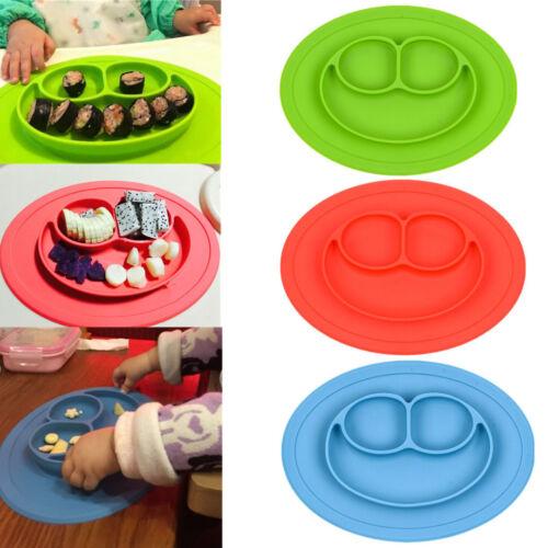 Baby Silikon Tischset Silikon Kinder Teller Rutschfest Tischset Geschirr Neu