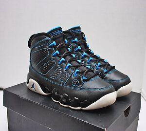 huge selection of f4f14 33088 Details about Nike Air Jordan 9 IX Retro Size 6Y - Black Photo Blue White -  302359 007