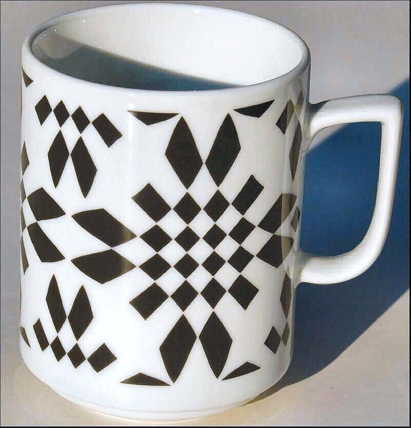 RHOMBUS  BOPLA Porzellan MAXITASSE Mug Maxicup   | Sonderpreis