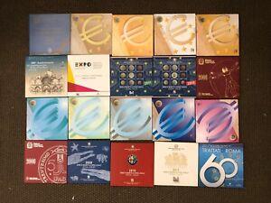 Série Monnaie Demandes Divisionnaires Italie Partir 2002 Au 2021 Avec Et Sans