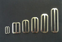Metal 3 Bar Slides Nickel 13mm,20mm,25mm,32mm,40mm,50mm x10 Bags,Straps,Webbing