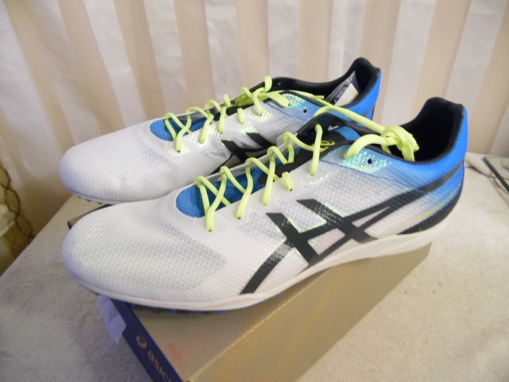 Asics Mens Cosmo Racer LD White Mesh Sport Spike Running shoes Athletic 13 NIB