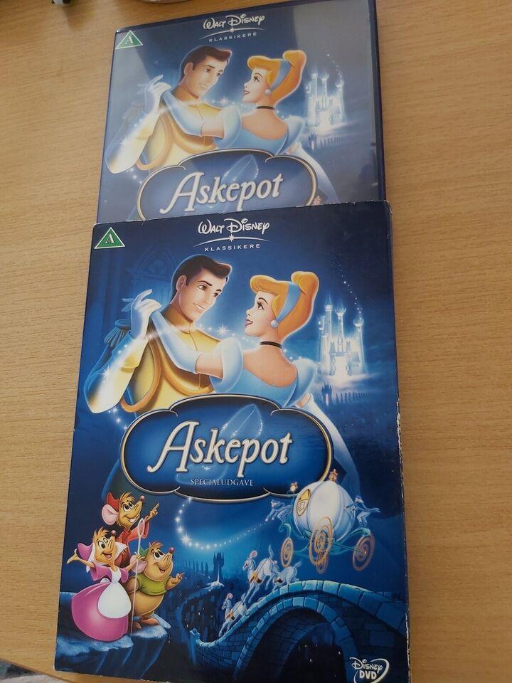 Askepot første udgave specialudgave, DVD, tegnefilm