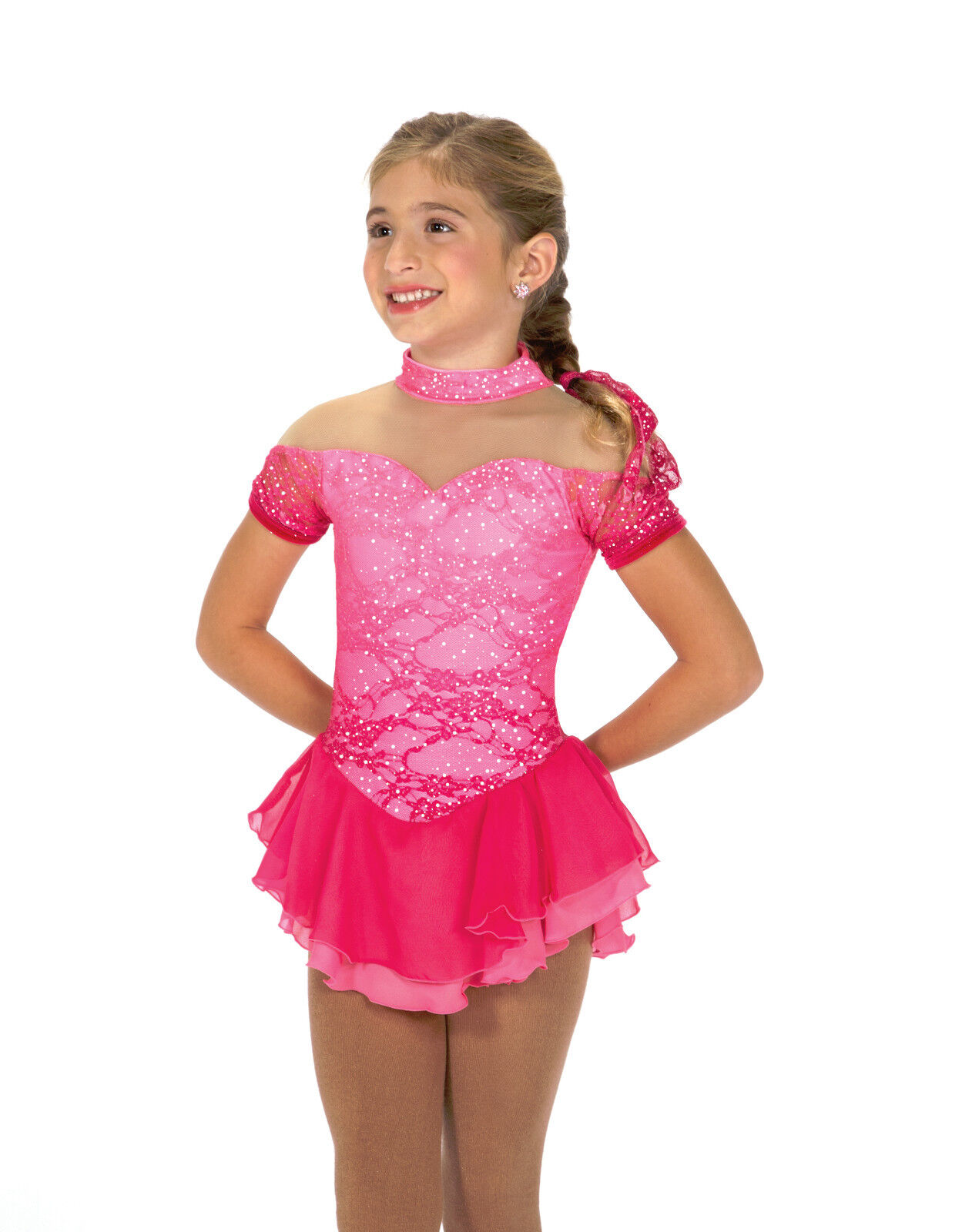 New Figure Skating Competition Dress Jerrys 179 Vie en pink  CM 8-10