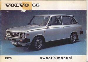 volvo 66 dl gl 1 1 1 3 1977 78 original owners manual handbook in rh ebay co uk 68 Volvo Volvo 65