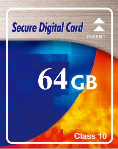 64 GB SDXC SD Speicherkarte Class 10 High Speed für Digital Kamera
