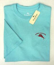 Ctn NEW Tommy Bahama Men/'s Graphic T-Shirt Lt Blue Crew Neck Wants More Wine