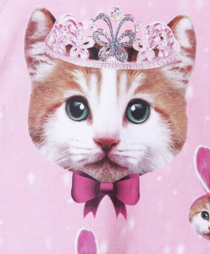 Kitty With Crown Print Pink Baby Girls  Kids Frock Size 000,00,0,1,2 Lycra