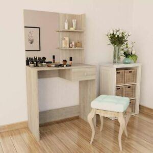 vidaXL-Dressing-Table-Chipboard-75x40x141cm-Oak-Makeup-Cosmetic-Desk-Mirror