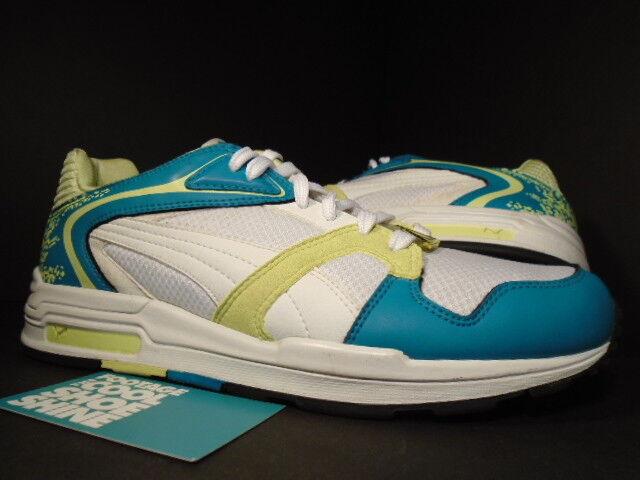 Puma Puma Puma Xs 850 Esmalte blancooo Azul verde Sunny Cal Amarillo Negro 341984-04 Talla 7.5 874df3