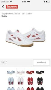 discount running shoes detailed pictures Details about Supreme Nike SB Gato
