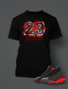 23-Got-Bred-Tee-Shirt-to-Match-Retro-Air-Jordan-13-Shoe-Mens-Graphic-T-Shirt