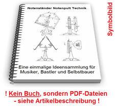 Notenständer selbst bauen - Notenpult Ablage Ständer für Noten Technik Patente