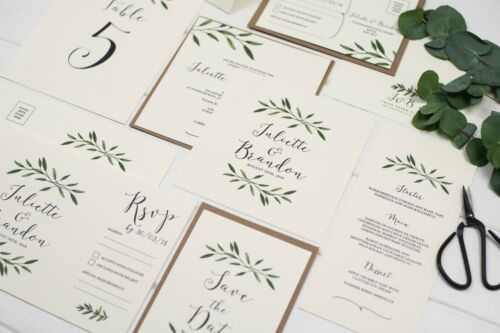 Natural Woodland Save the Date Cards